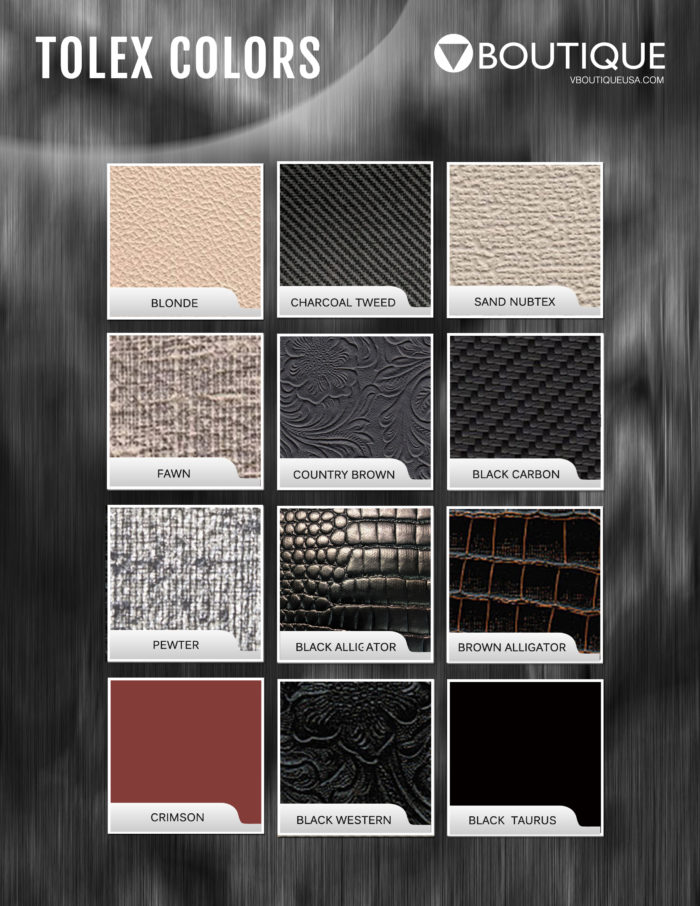 VBoutique 2018 Guitar cabinet tolex swatches